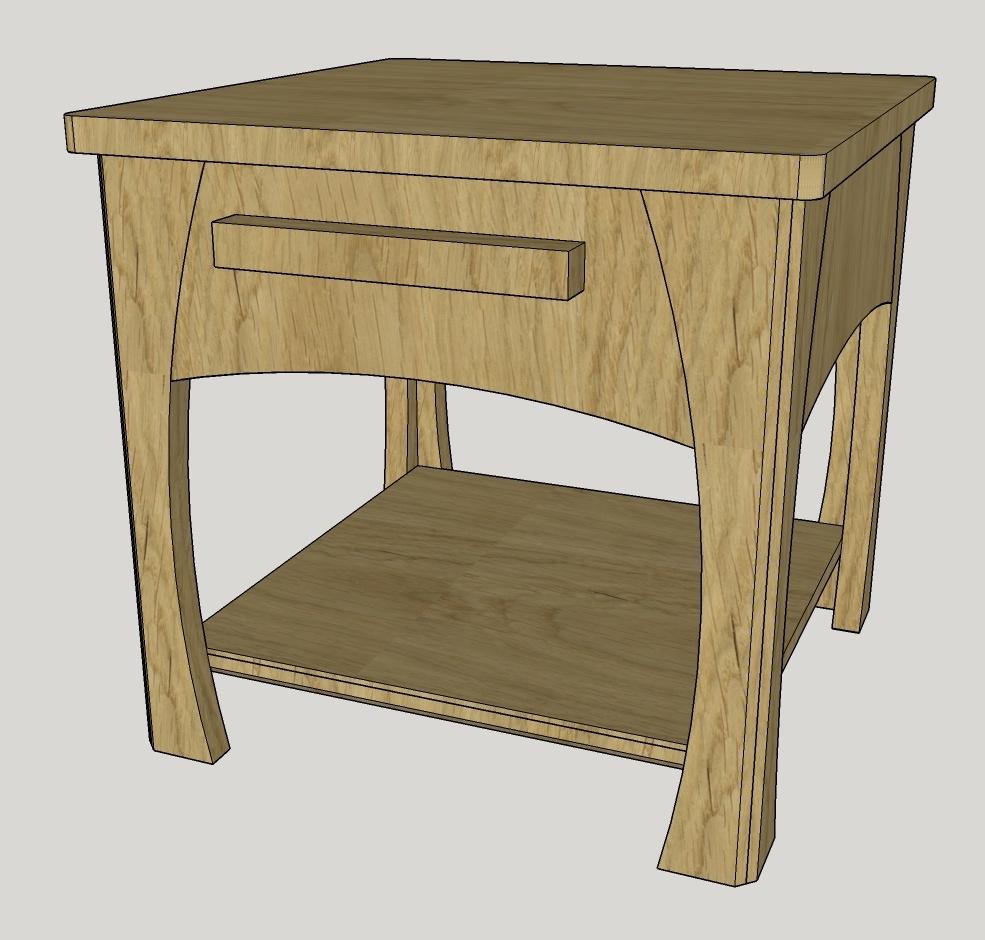 plan table de nuit par syldesalpes sur l 39 air du bois. Black Bedroom Furniture Sets. Home Design Ideas
