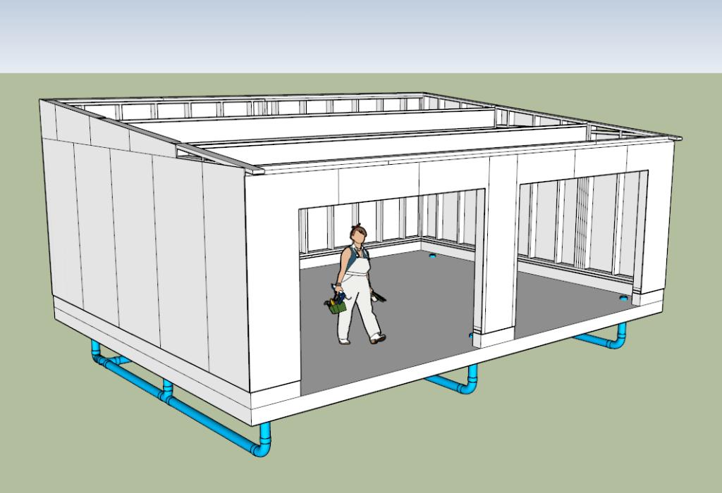 Plan mon atelier ossature bois par ninjarouge sur l 39 air du bois - Exemple de plan de garage ...