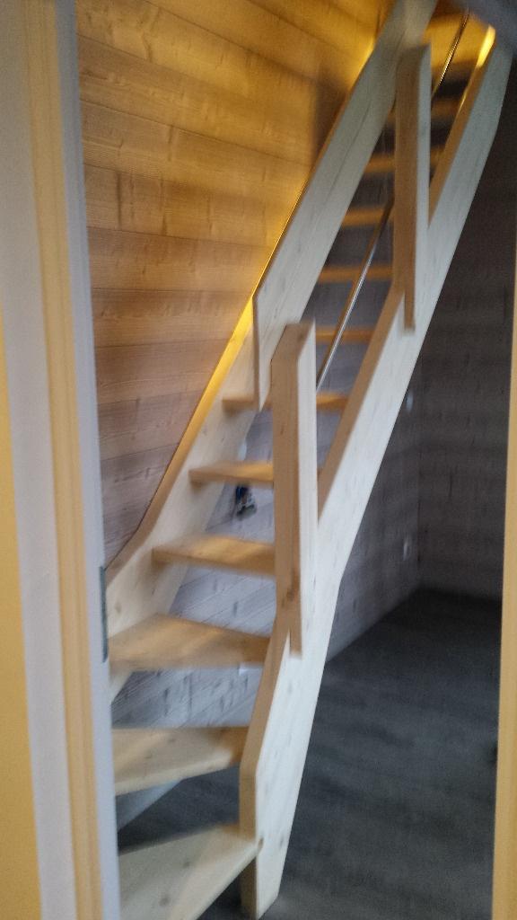 cr ation d 39 une mezzanine et d 39 un escalier quart tournant par lbois sur l 39 air du bois. Black Bedroom Furniture Sets. Home Design Ideas