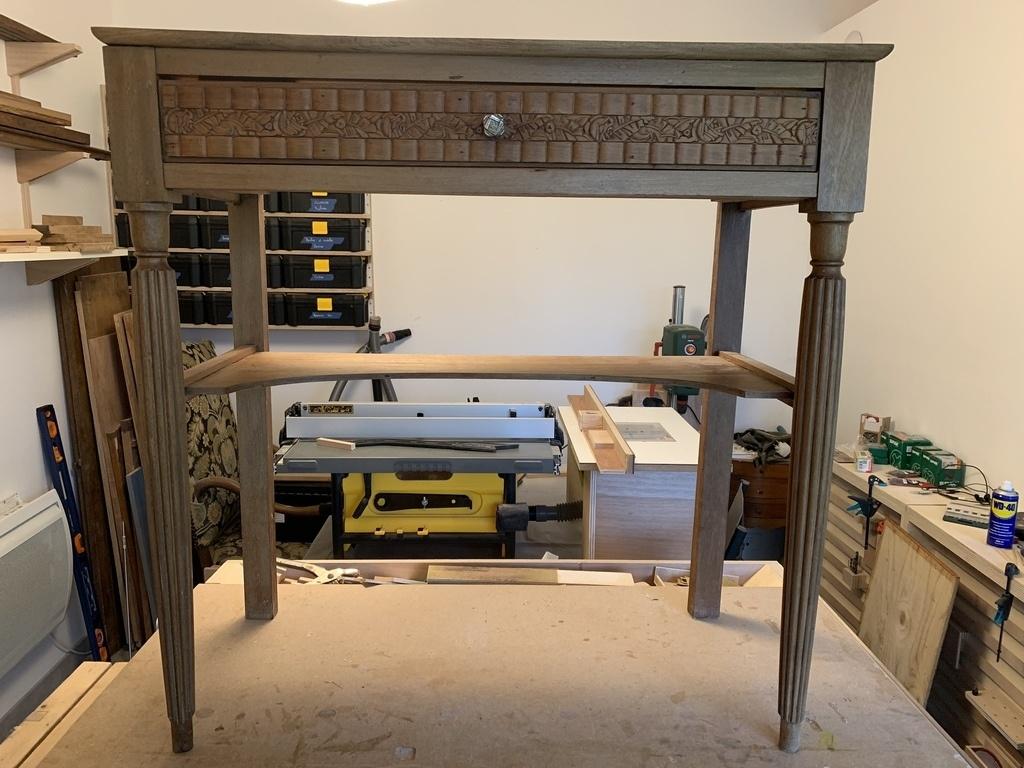Relooker Une Table De Toilette En Marbre restauration d'une table de toilette art déco par maethor