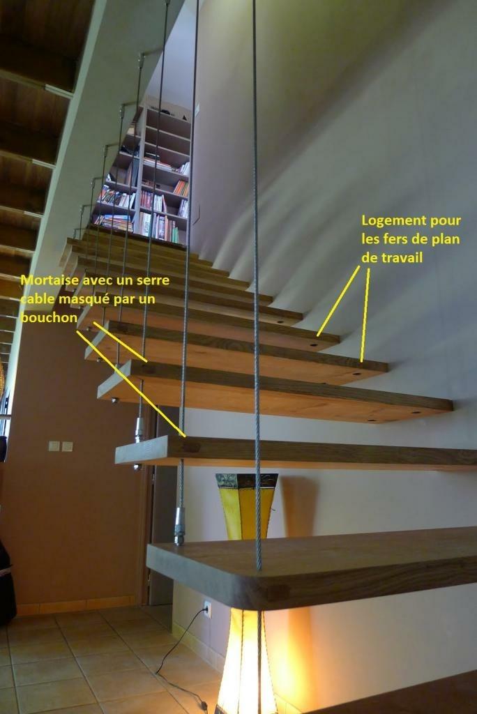 Escalier quart tournant suspendu par Toutenbois sur LAir