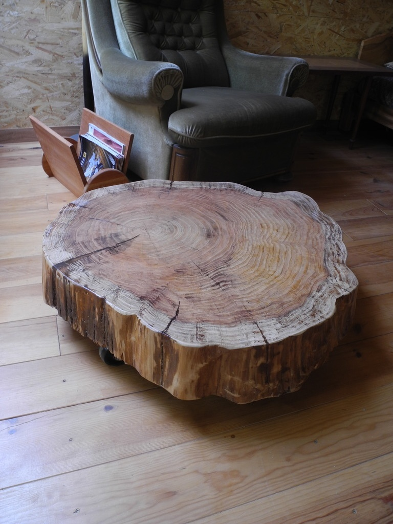 Table Basse Tronc Par Peiot Sur L Air Du Bois