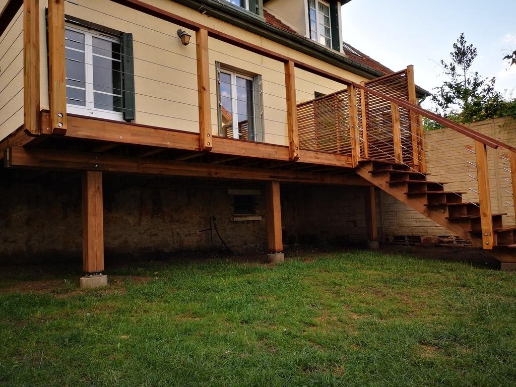Structure Terrasse Bois Surélevée terrasse bois sur pilotis- platelage exotique ipé. par