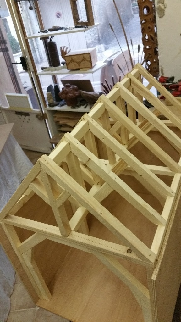Fabrication maison pour notre chat par cousin06 sur l 39 air du bois - Maison pour chat en bois ...