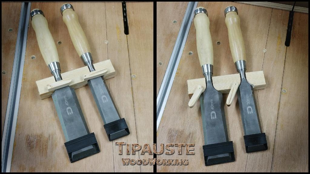 Prototype de support pour mes ciseaux bois par tipaustewoodworking sur l 39 air du bois - Support pour couper du bois ...