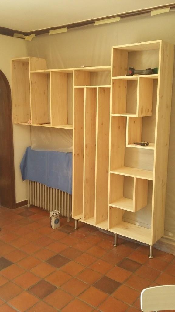 biblioth que en pin par hubellier sur l 39 air du bois. Black Bedroom Furniture Sets. Home Design Ideas