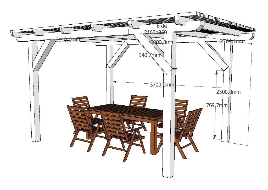 Plan pergola par franckandersson sur l 39 air du bois for Plan de pergola en bois