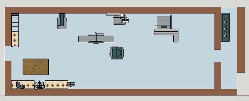 plan agencement de mon futur atelier bois par guilhem. Black Bedroom Furniture Sets. Home Design Ideas