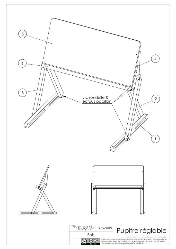 plan pupitre de lecture par entropie sur l 39 air du bois. Black Bedroom Furniture Sets. Home Design Ideas