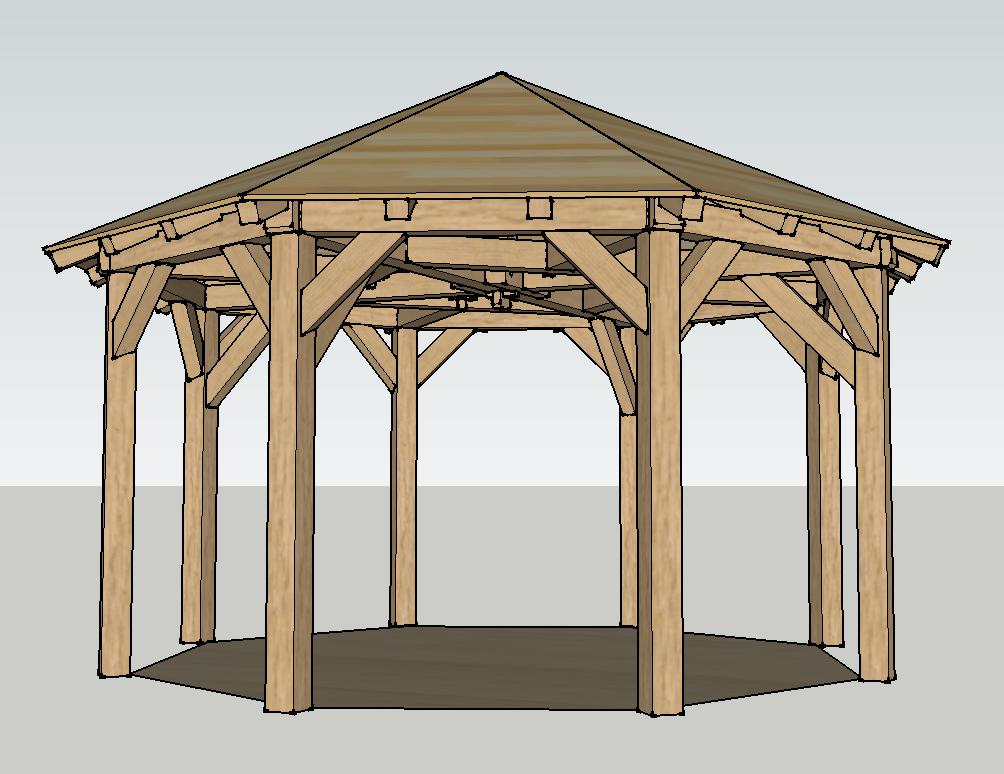 Plan] Kiosque octogonal par titimaster sur L\'Air du Bois