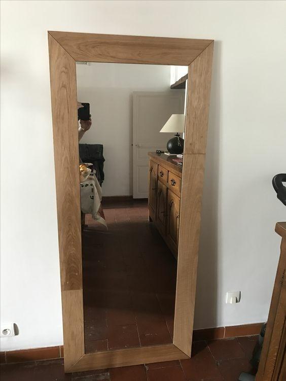 Miroir 150x50 en chene par romain350 sur l 39 air du bois for Miroir chene