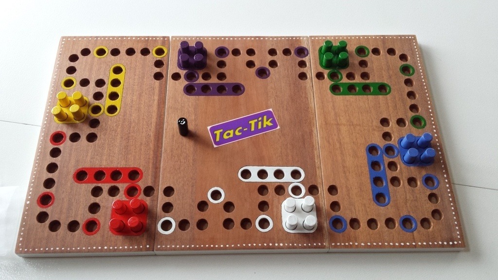 Jeu tac tik par micheljeuxbois sur l 39 air du bois - Comment fabriquer le jeu tac tik ...