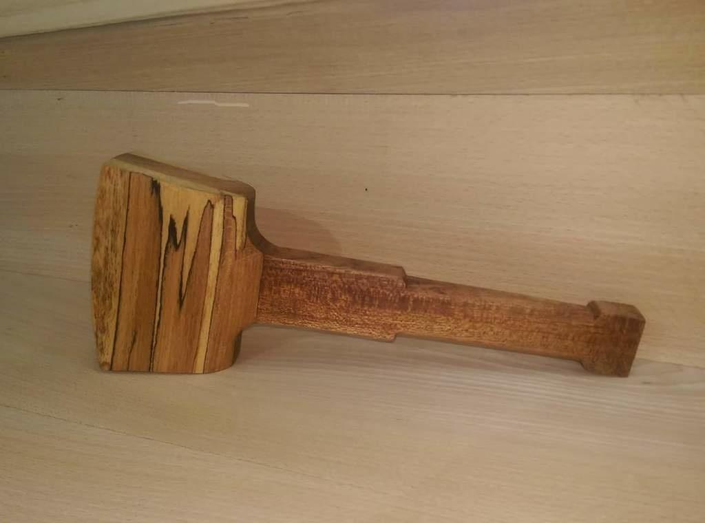 Fabrication d 39 un maillet en h tre et bois exotique par - Maillet en bois ...