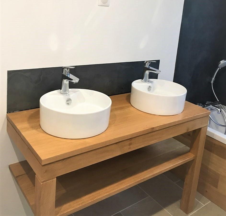 Meuble Vasques Et Habillage Baignoire Par Bibi Sur L Air Du Bois