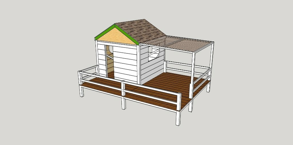Plan plans sketchup cabane par lesqual38 sur l 39 air du bois for Plan maison sketchup