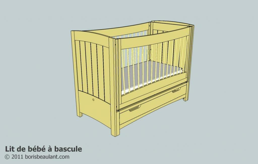 plan lit de b b avec bascule par zeloko sur l 39 air du bois. Black Bedroom Furniture Sets. Home Design Ideas