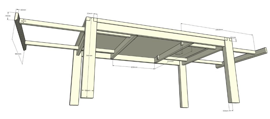 plan table salle a manger par pp88 sur l 39 air du bois. Black Bedroom Furniture Sets. Home Design Ideas