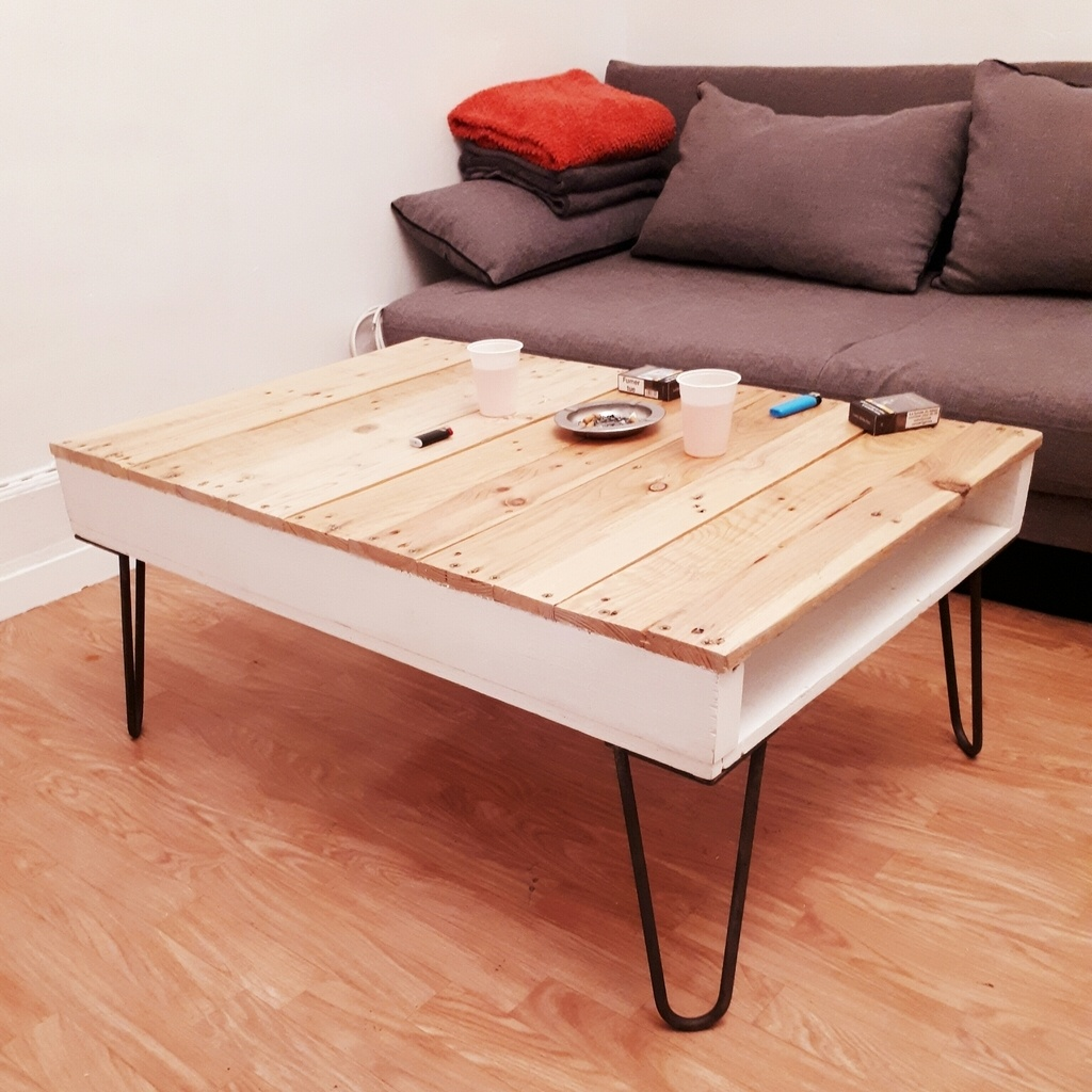 Table Basse Avec Parpaing table basse recup'palette par alexandrebenoist sur l'air du bois