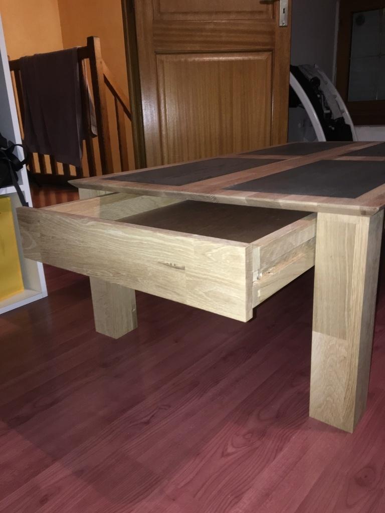 table basse ch ne et b ton cir par matt56 sur l 39 air du bois. Black Bedroom Furniture Sets. Home Design Ideas