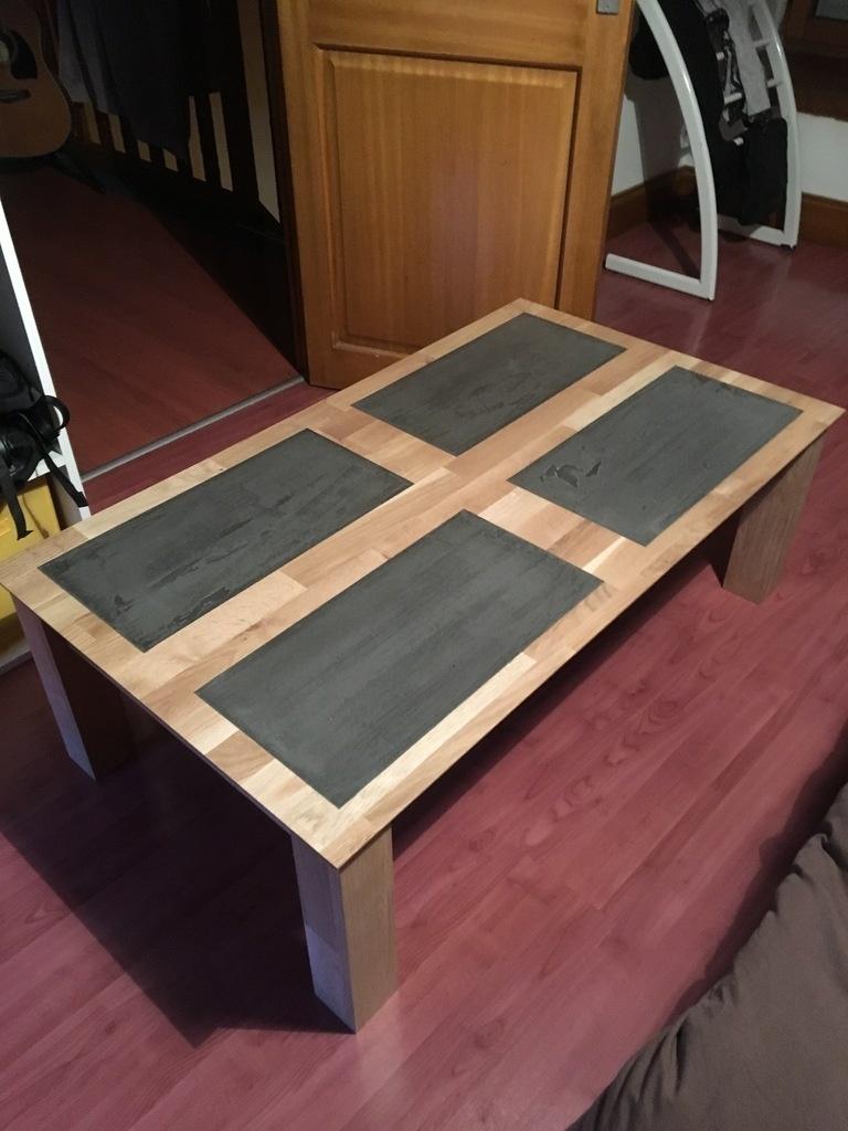 Comment Faire Une Table En Béton Ciré table basse chêne et béton ciré par matt56 sur l'air du bois