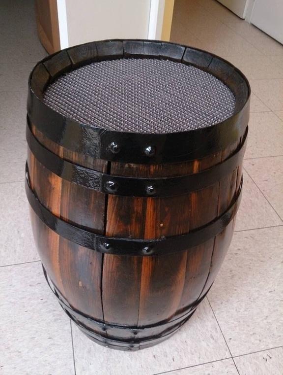 deco tonneau bois barrique petit tonneau bois techinal country rustique en bois pots de. Black Bedroom Furniture Sets. Home Design Ideas