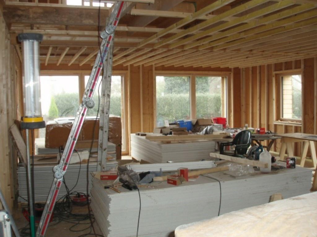 pas pas construction d 39 une maison ossature bois passive par bensz sur l 39 air du bois. Black Bedroom Furniture Sets. Home Design Ideas