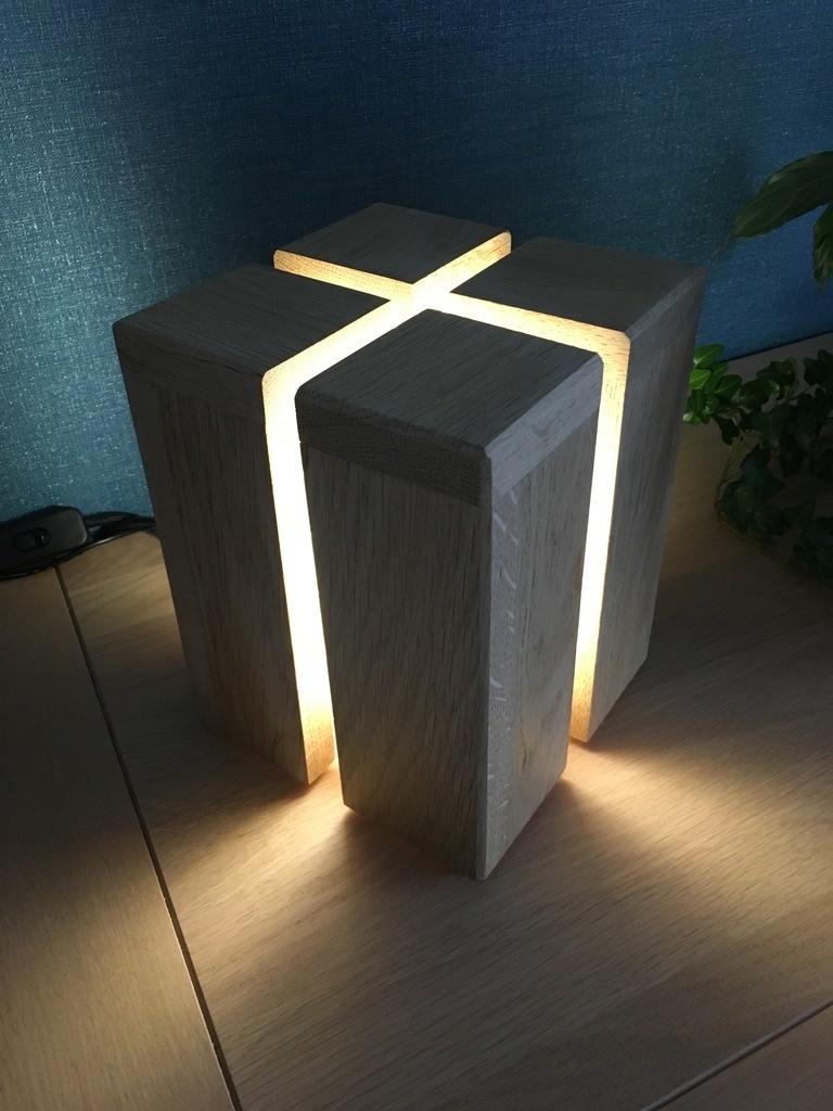 Lampe Cube Par Mike0411 Sur L Air Du Bois