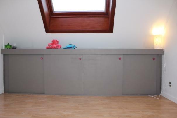 armoire sous combles par s bastien dehut sur l 39 air du bois. Black Bedroom Furniture Sets. Home Design Ideas