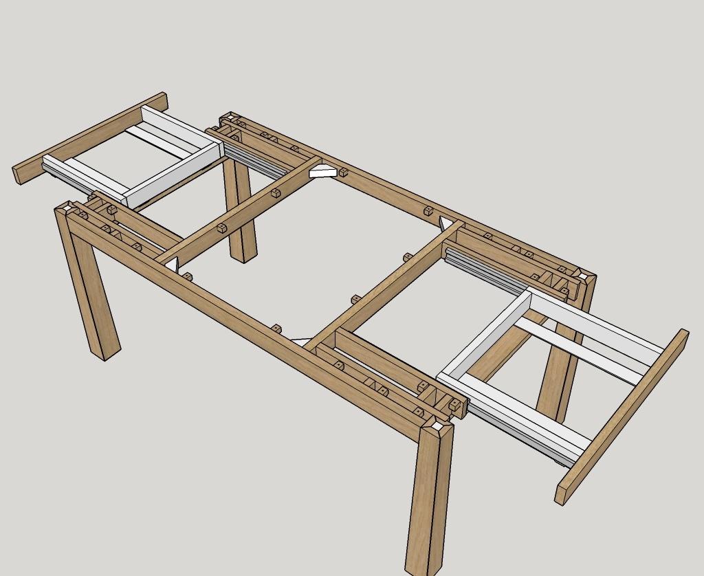 Pas pas fabrication d 39 une table de s jour allonges for Largeur d une table