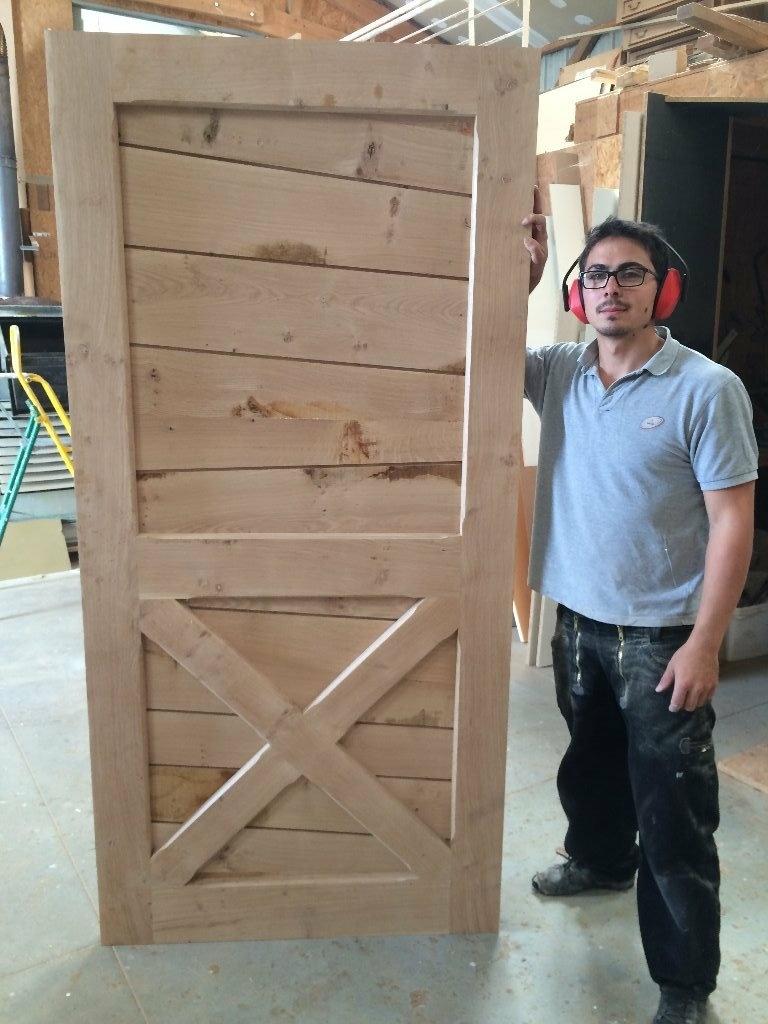 porte avec lame queue de billard par j r my lipreau sur l 39 air du bois. Black Bedroom Furniture Sets. Home Design Ideas
