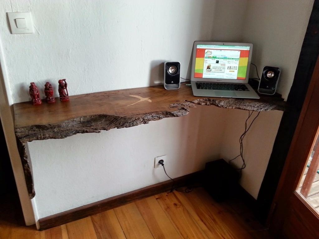 Tablette bureau en tamarin par gaillardo sur l air du bois