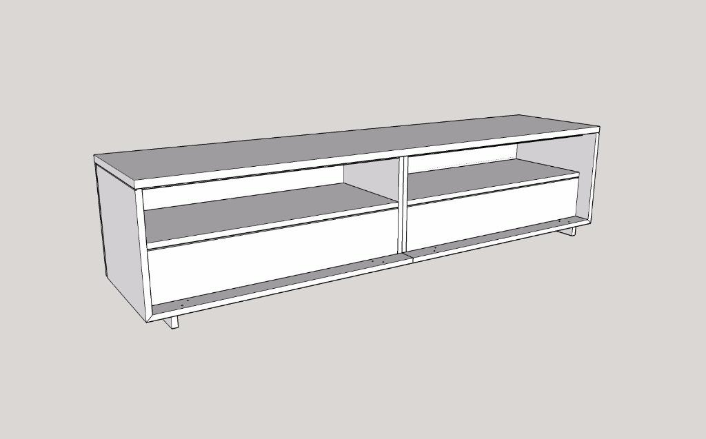 pas pas fabrication d 39 un meuble tv par zeloko sur l 39 air du bois. Black Bedroom Furniture Sets. Home Design Ideas