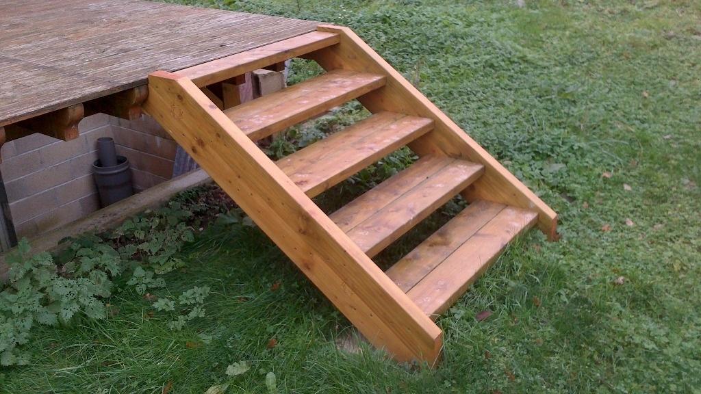 Escalier par larsmulrich sur l 39 air du bois for Escalier pour terrasse exterieur