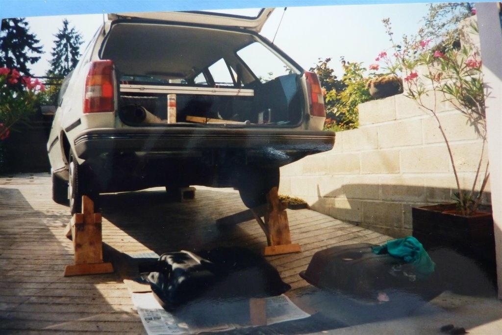rampe pour levage voiture par sanglier sur l 39 air du bois. Black Bedroom Furniture Sets. Home Design Ideas
