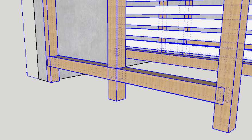 abris bois toit plat