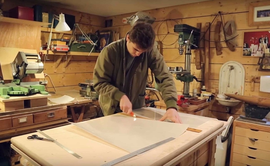 Pas pas lampe chien par lafabriquediy sur l 39 air du bois for Fabriquer un abat jour en fil de fer