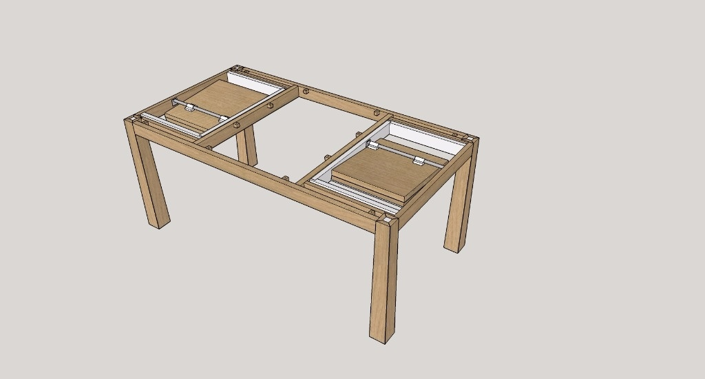 table en bois rectangulaire