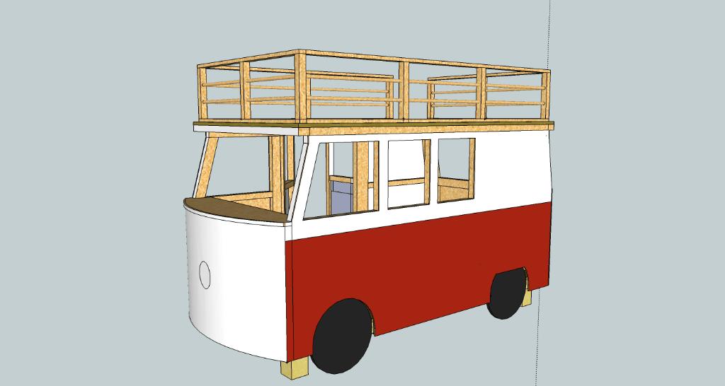 plan lit superpos combi vw par seb en bois sur l 39 air du bois. Black Bedroom Furniture Sets. Home Design Ideas