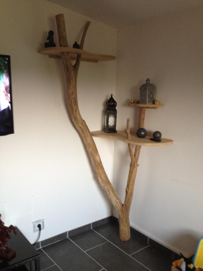 Étagère arbre par Boissansoif sur L'Air du Bois