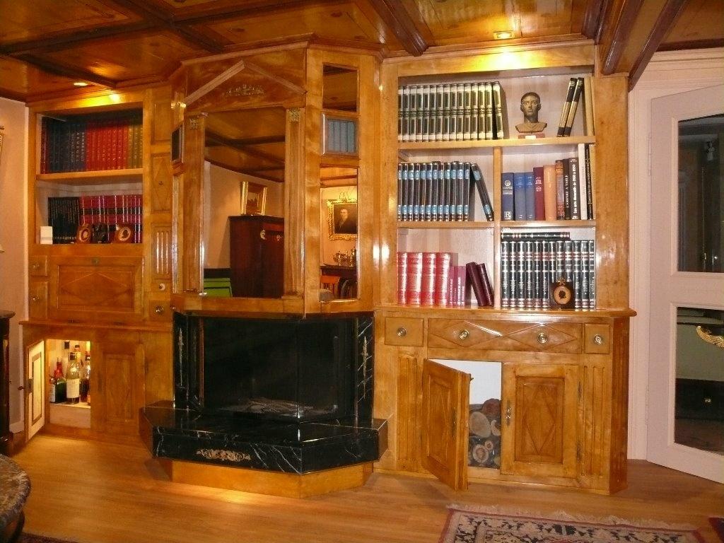 biblioth que pour meubler le coin chemin e par bene569 sur. Black Bedroom Furniture Sets. Home Design Ideas