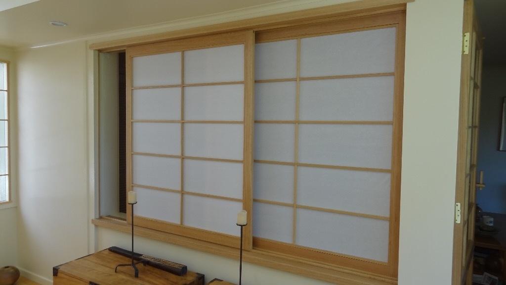 Fen tre shoji par philaustralia sur l 39 air du bois - Fabriquer cloison japonaise ...