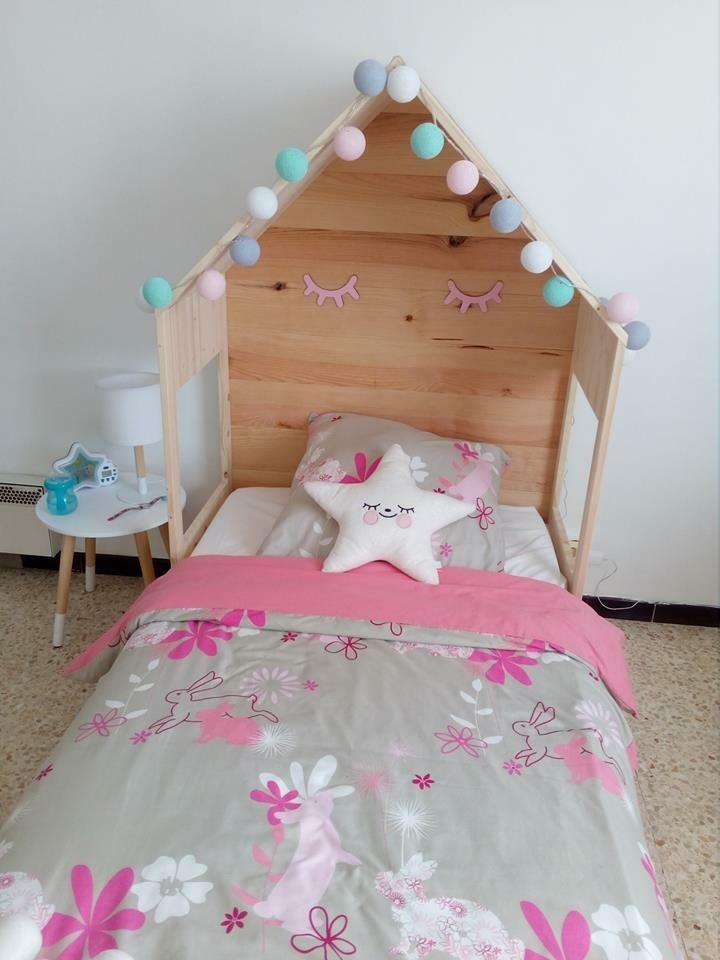 t te de lit cabane par jeffb sur l 39 air du bois. Black Bedroom Furniture Sets. Home Design Ideas