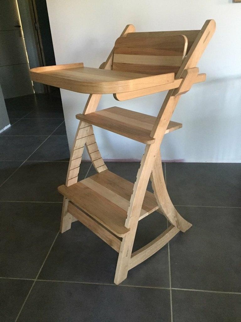 chaise haute bebe bois par riquet18x4 sur l 39 air du bois. Black Bedroom Furniture Sets. Home Design Ideas