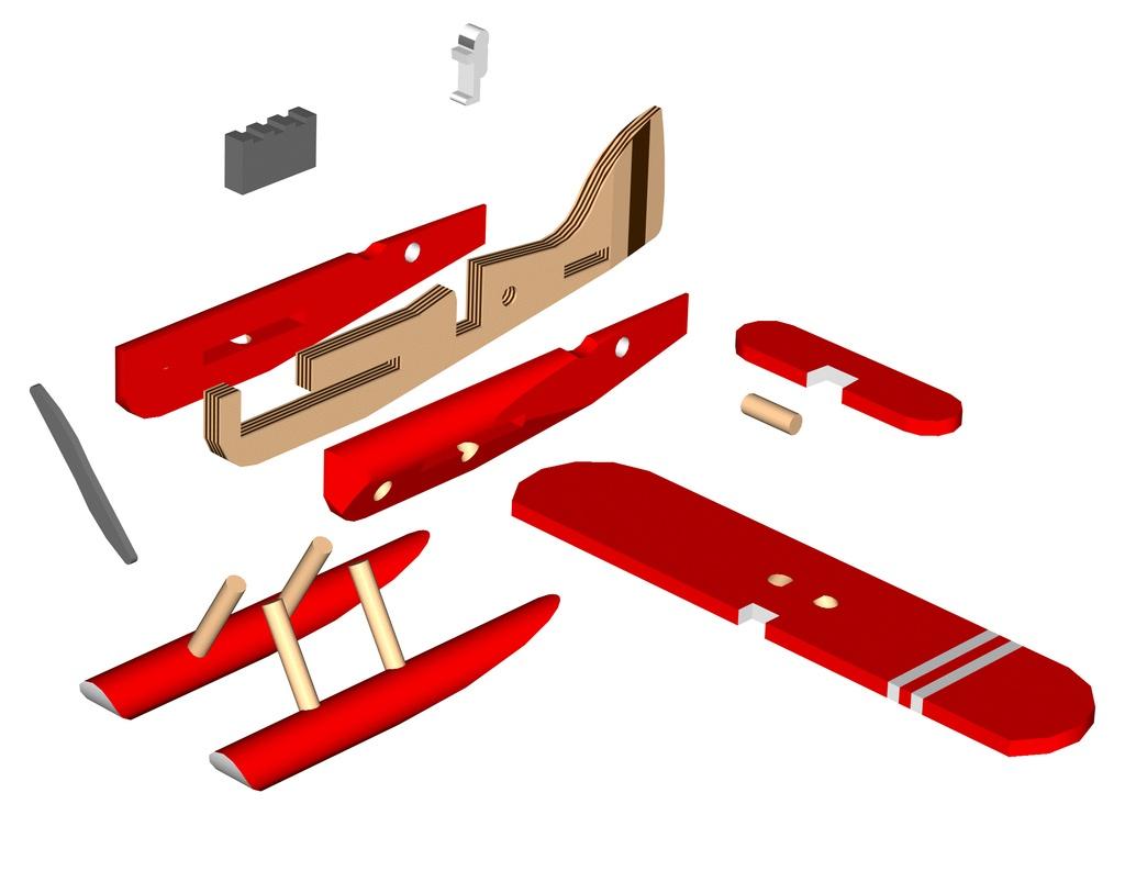 maquette avion bois