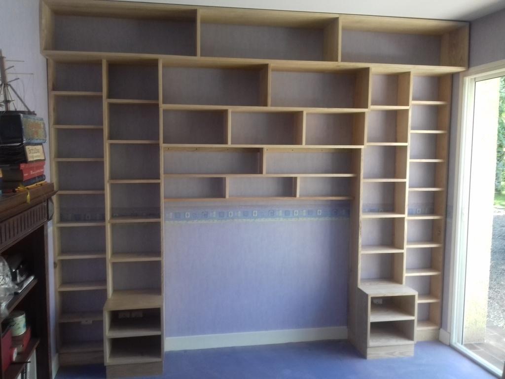 bibliotheque en fr ne par slick sur l 39 air du bois. Black Bedroom Furniture Sets. Home Design Ideas