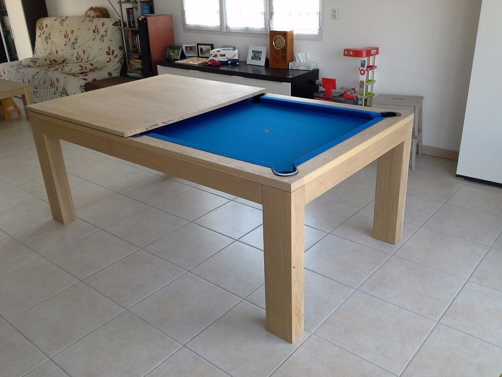 Billard table salle a manger par fabio38 sur l 39 air du bois for Table a manger convertible