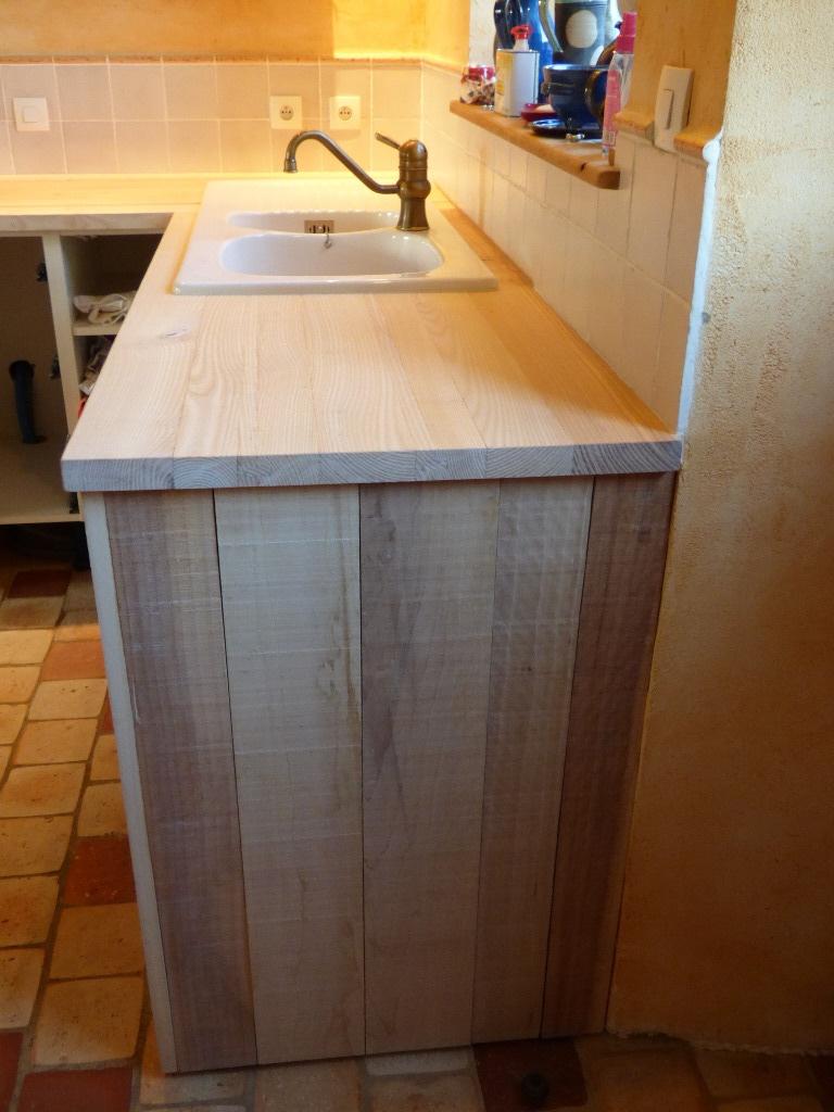 Plan De Travail Faible Épaisseur en ce qui concerne plan de travail frêne et habillage peuplier par wil sur l'air du bois