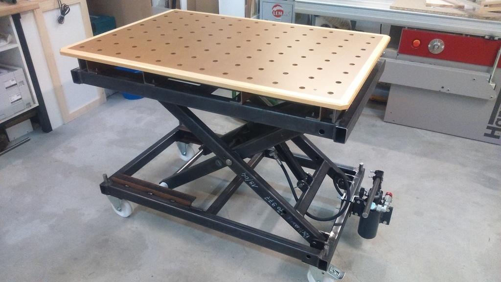 Table l vatrice mft par boubou79 sur l 39 air du bois - Plan pour fabriquer table forestiere ...