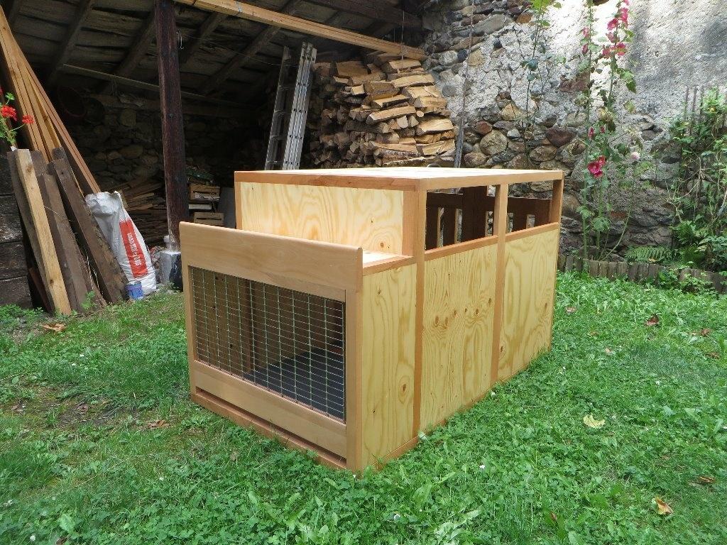 caisse pour chiens de chasse par fage31 sur l 39 air du bois. Black Bedroom Furniture Sets. Home Design Ideas