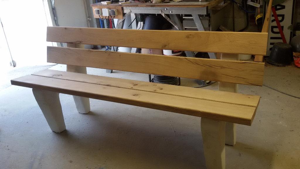 banc chene exterieur par step sur l 39 air du bois. Black Bedroom Furniture Sets. Home Design Ideas